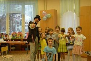Фокусник в детском саду