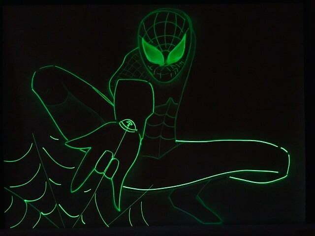 светящаяся картина Спайдер