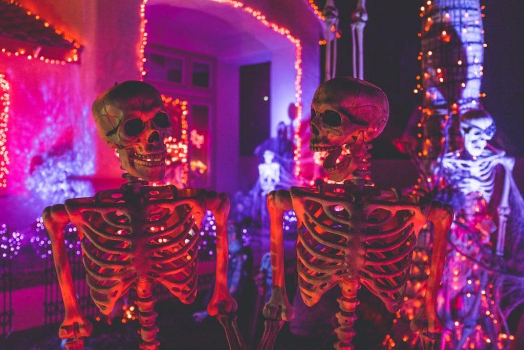 Декор скелеты на Хэллоуин