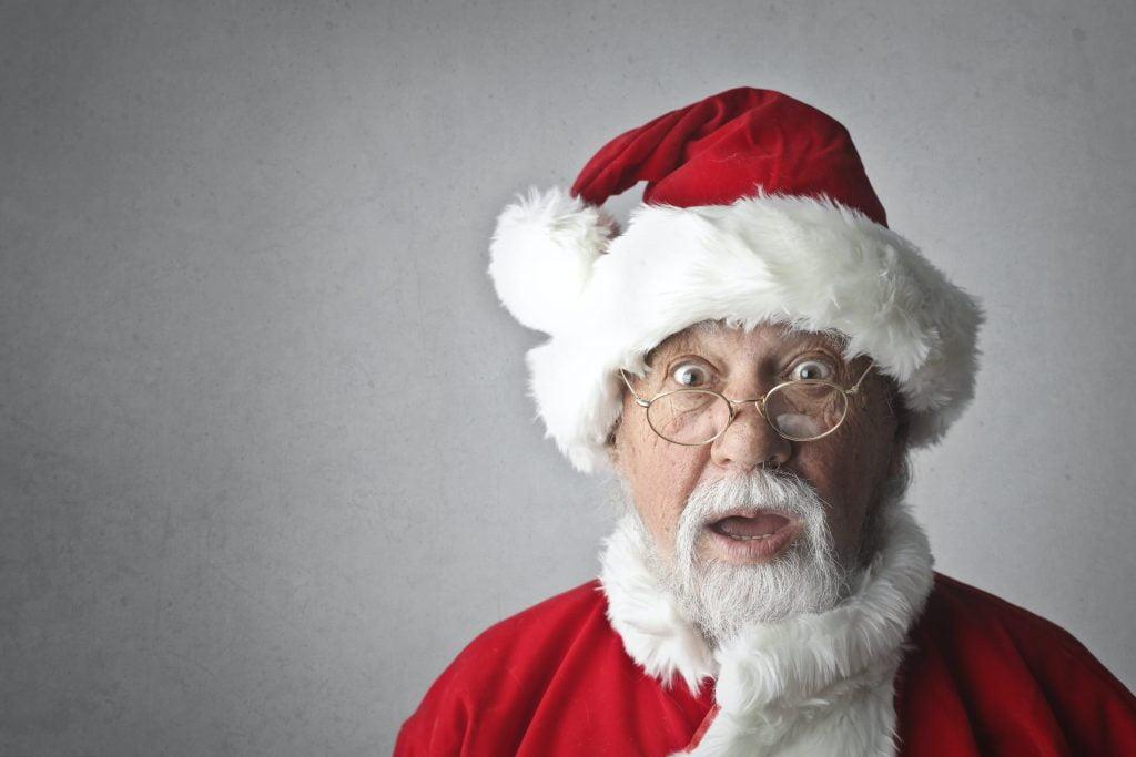 Санта Клаус с натуральной бородой