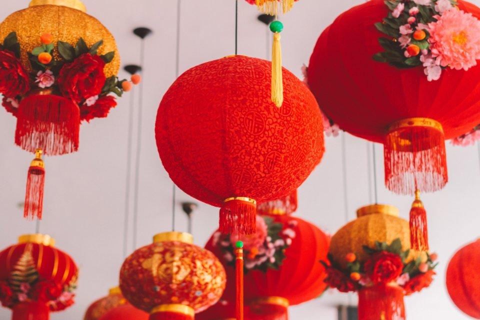 Китайские новогодние красные фонари
